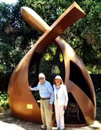 "Robert and Esther Metzner with ""Convergence"""